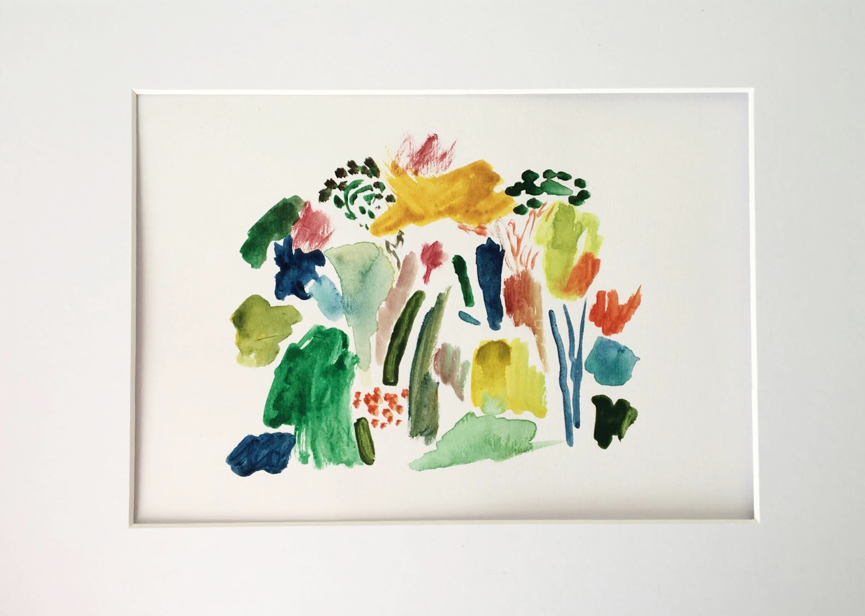 'Bursts of Joy' watercolour on paper, by Laura Gee