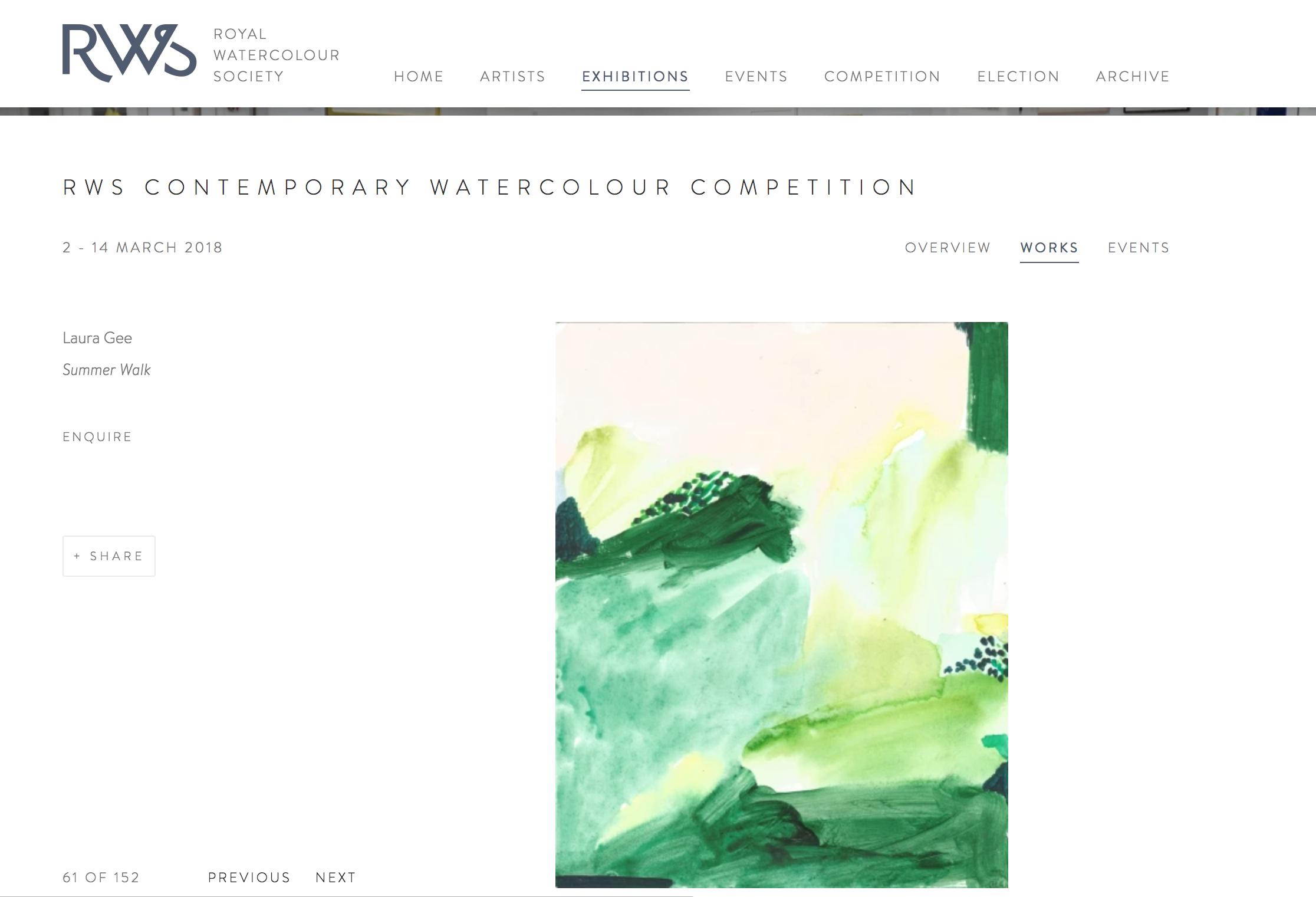 My work on the RWS website
