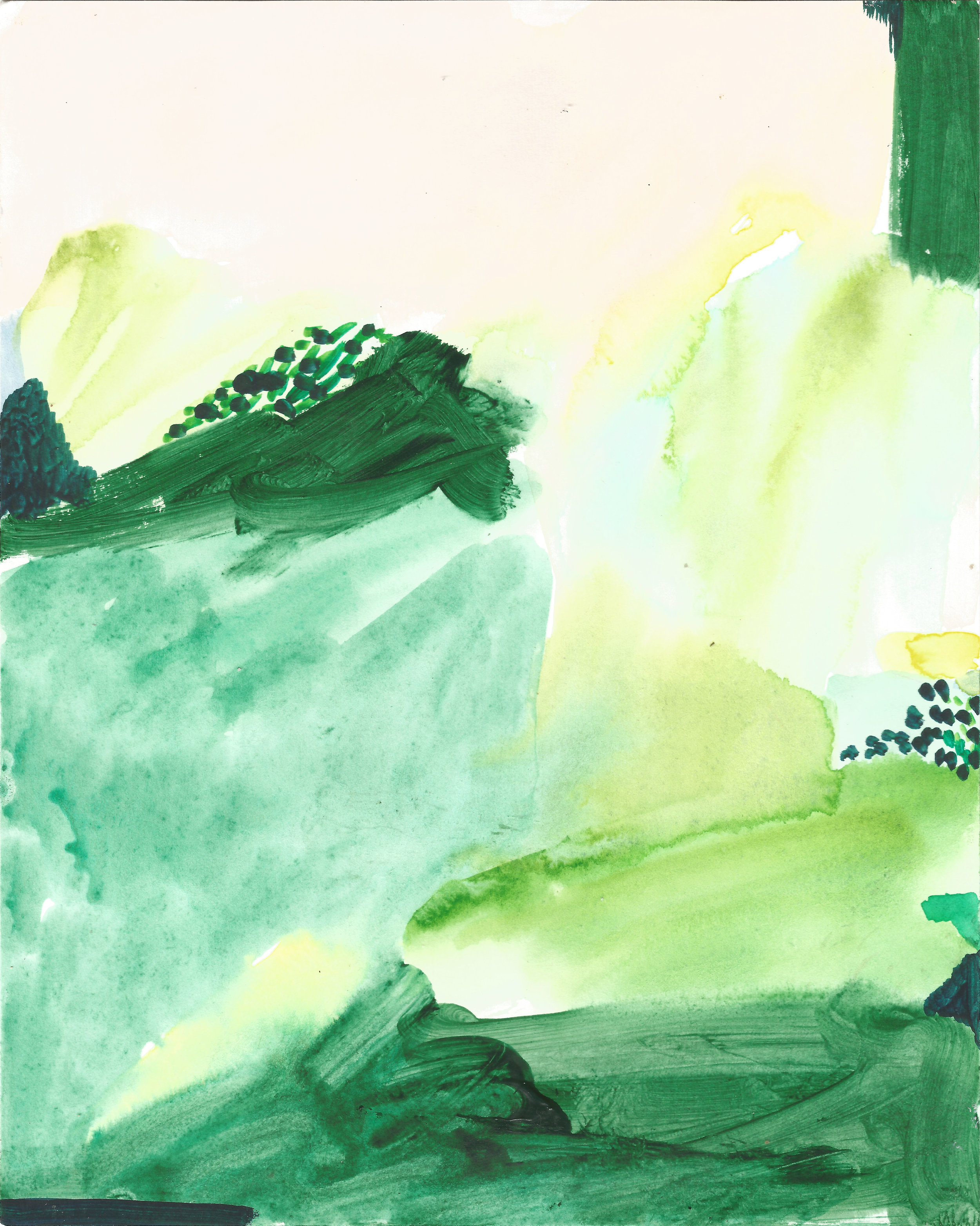 'Summer Walk' 2018 - watercolour & acrylic on paper