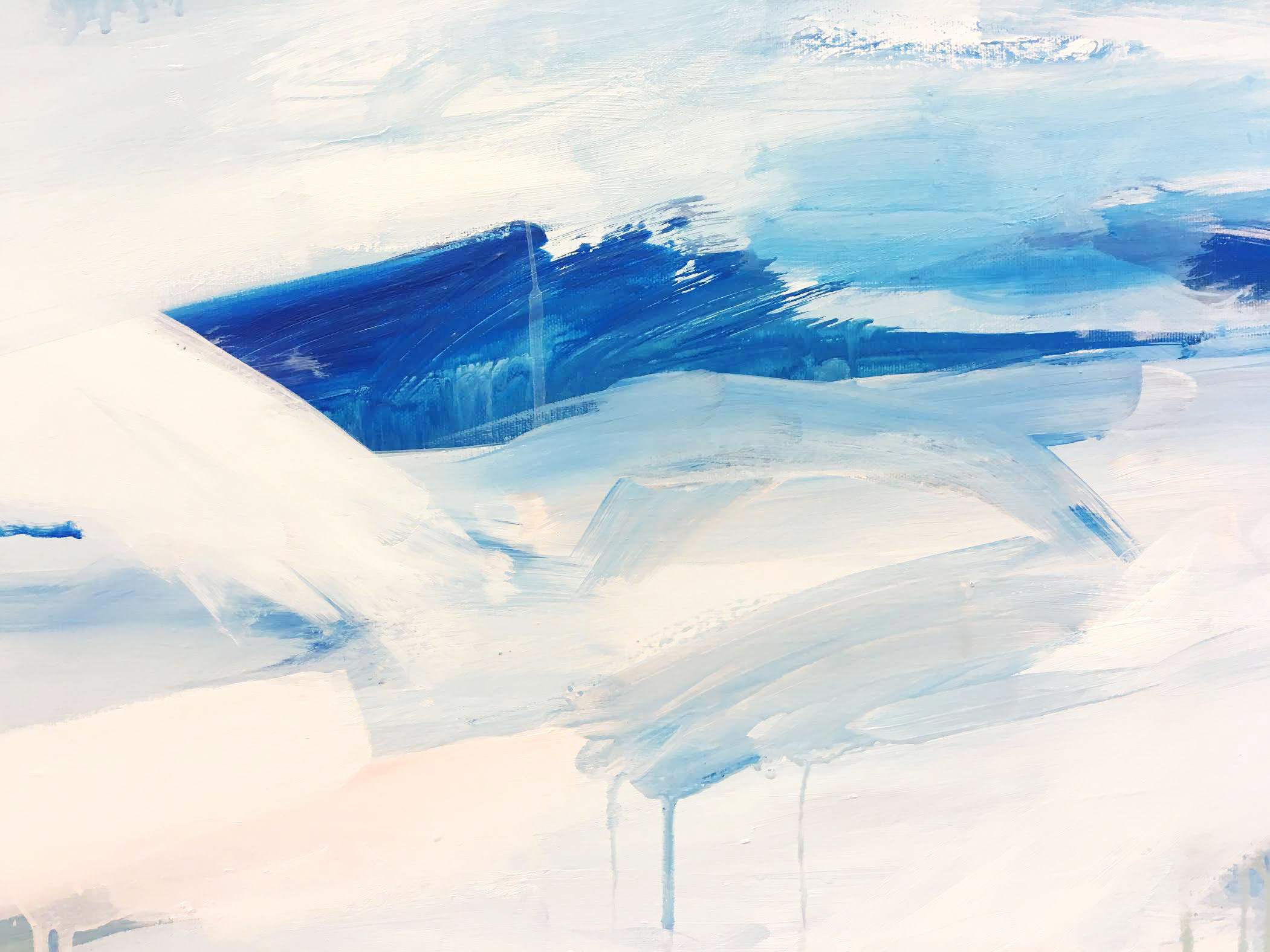 Shots of an Icelandic Inspired commission using my abstract marks and approach to Landscape paintings. measures 100m x 93cm