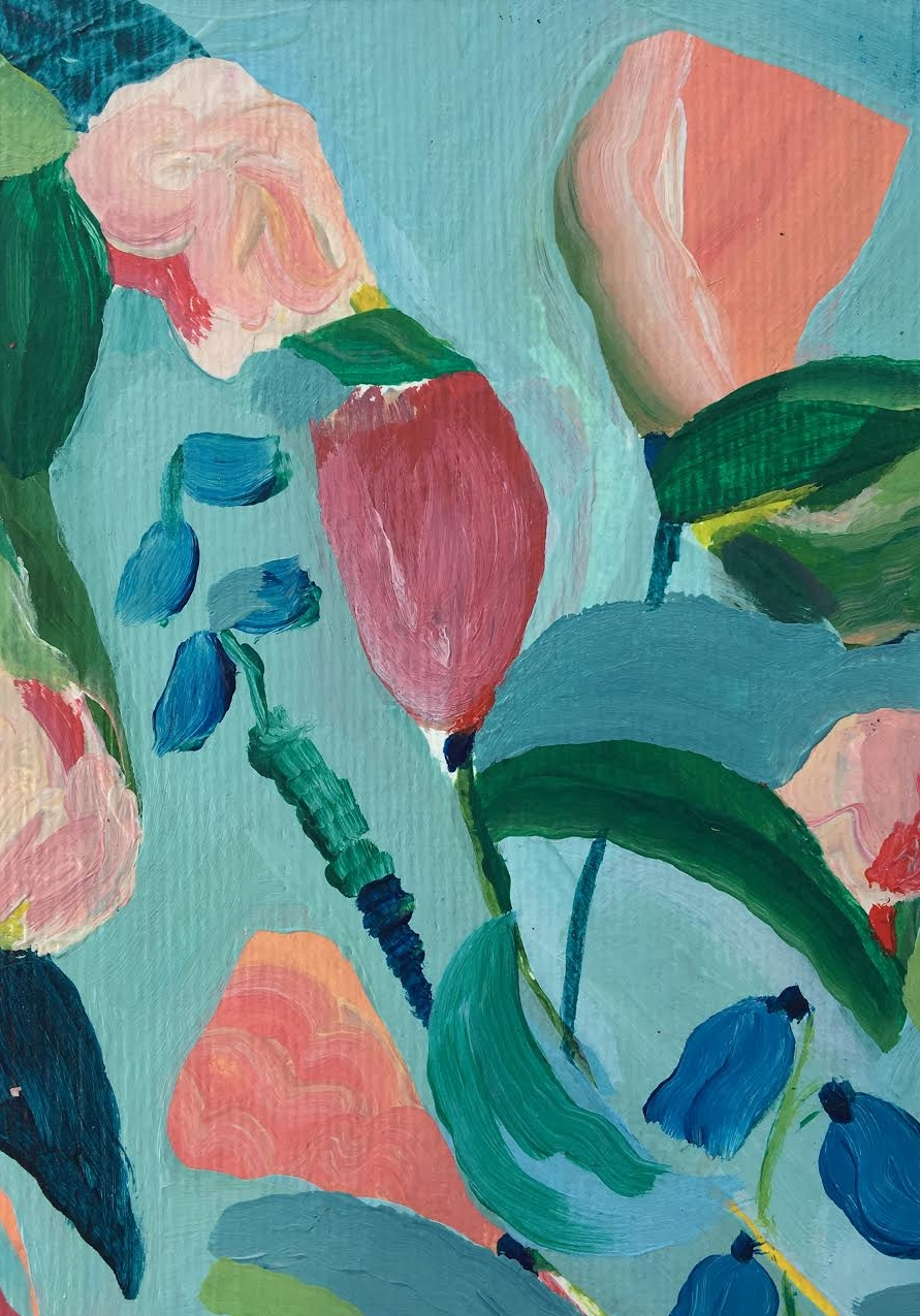 Laura Gee Abstract Florals- Dulwich Gallery