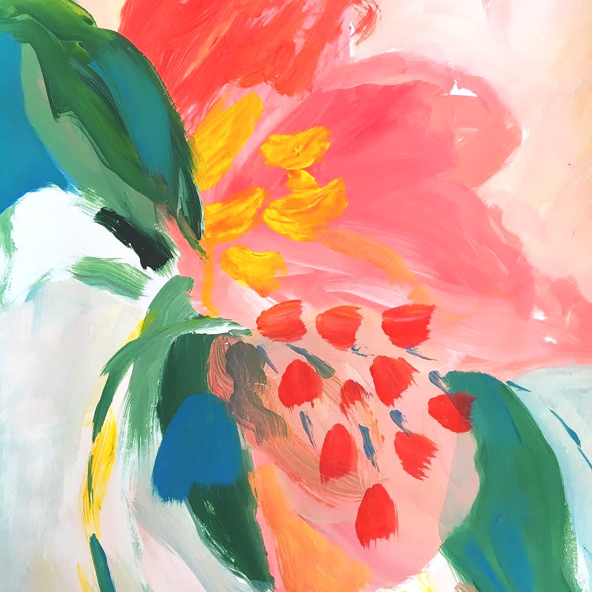 ABSTRACT FLORAL PAINTINGS -