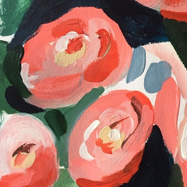 'Blooming Heart' Acrylic on paper,  42 x 29.7cm ❤️🌹 . New Framed originals on paper now available via link in bio ✨ . . .  #lauragee #abstractart #inspiredbynature #flowerpainting #botanical #contemporaryart #acrylicpainting #plantpainting #botanicalpainting #naturepainting #flower #bluepainting #floralpainting #rosepainting #bridalbouquet #bouquet #weddingpresent #artpresent #framedpainting #londonart