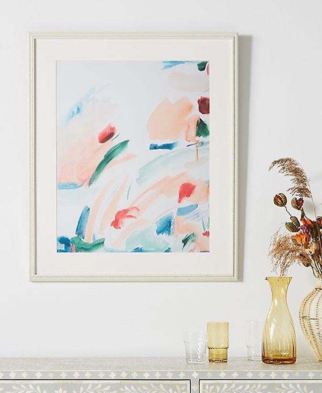 Pleased to to say you can now find my art prints at @anthropologie in the UK & USA, including this piece, 'Burst Open' 🌺🌸 thanks @artfullywalls ✨ . . . . .  #abstractart #abstractflowers #floralpainting #laurageeworkshop #lauragee #exhibtion #anthroplogie #lauragee #boldinteriors #anthropologiehome #artprint #gallerywall