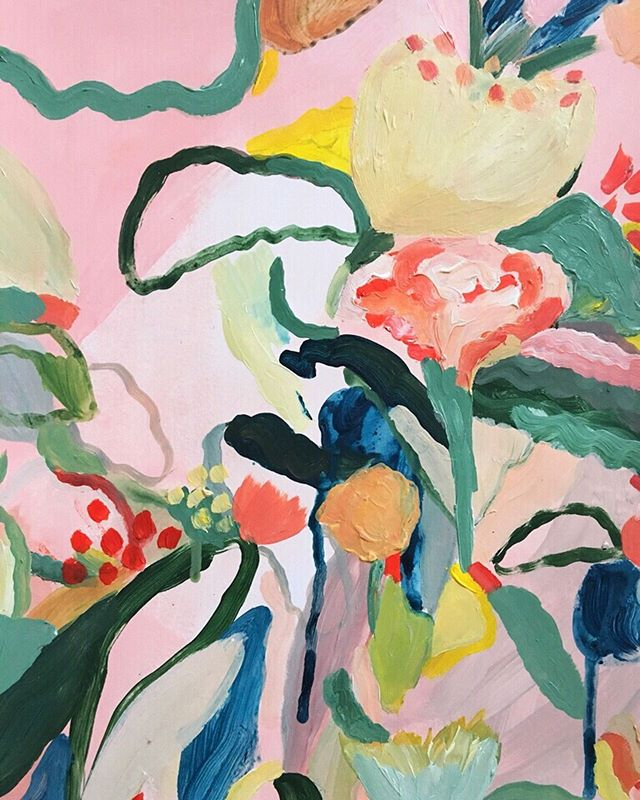 ' Summer Bouquets'  looking happy. The original has sold but this is available as a colourful  A3 -A2 print via my online shop. 🌸🌺 🌸🌺🌸 . . . . . . #flowerpainting  #pinkpainting #londonartist #abstractflowers #flowers #lauragee #londonstudio #abstractnature #acrylicpainting #creativeprocess #studiowall #canvas #affordableart #artiststudio #lovecreativelife #fineart #contemporaryart #abstractart #modernart #creativeprocess #abstractart #fineart #foliage #flora #pinkpainting