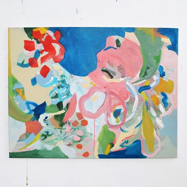 Deconstructed flowers, work in progress ❤️💙 800mm x 600mm . . . . . . . #lauragee #abstractart #inspiredbynature #nature #landscape #artstudio #laurageeart #studiowall #landscapepainting #contemporaryart #acrylicpainting #plantpainting #botanicalpainting #naturepainting #flower #pinkpainting #creativeprocess #originalartwork #abstractflowers #contemporaryart #bluepainting #contemporaryart #artprint #naturepainting