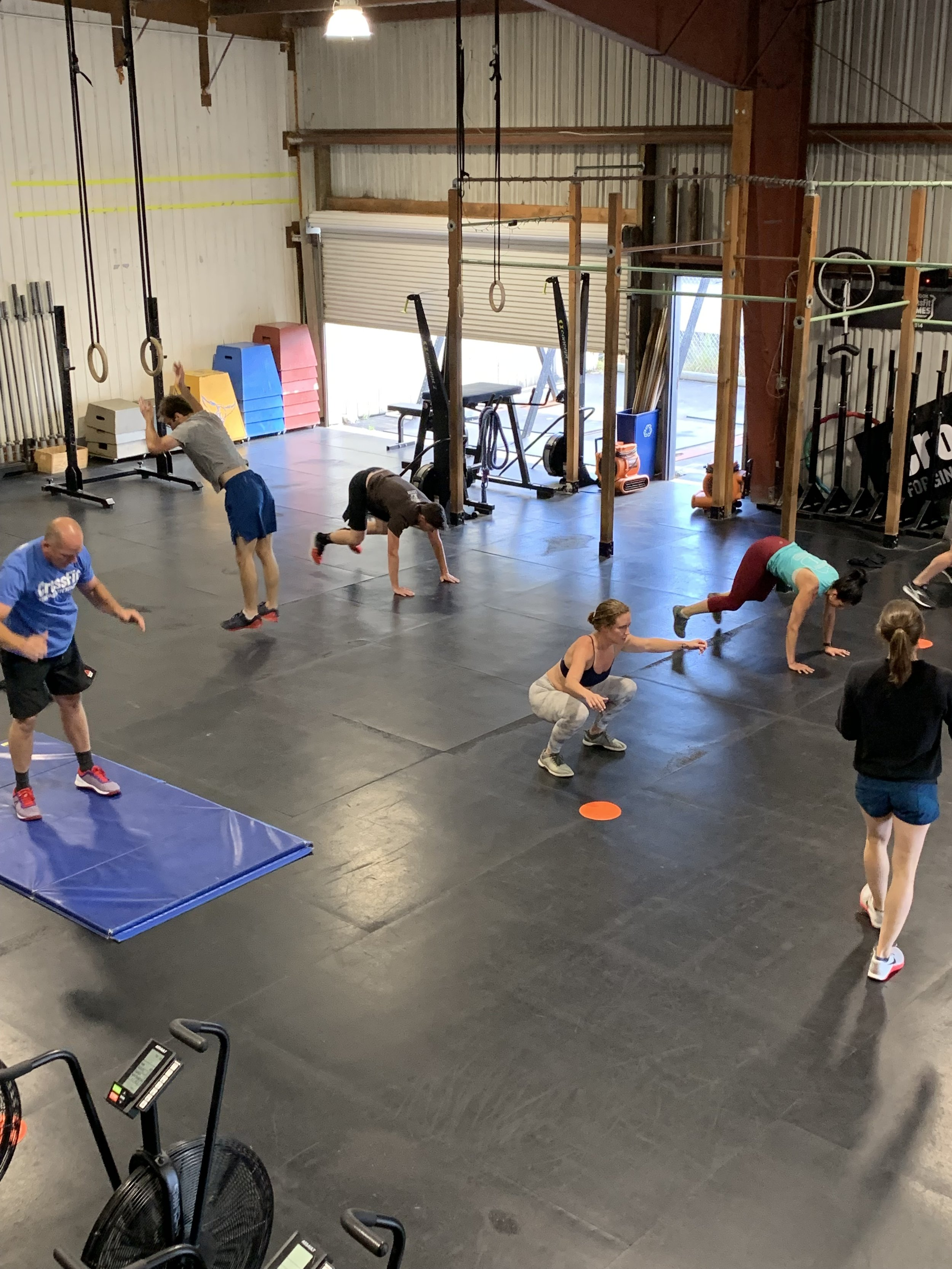 Class squats and burpees