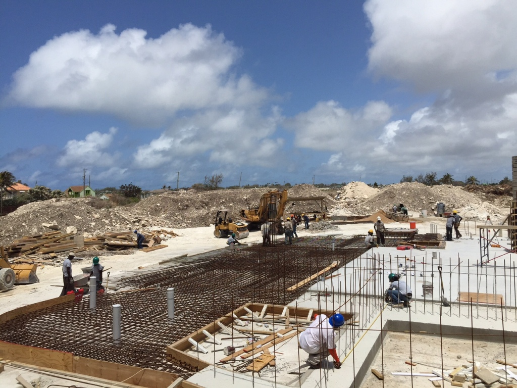 Before the last concrete pour to complete the basement