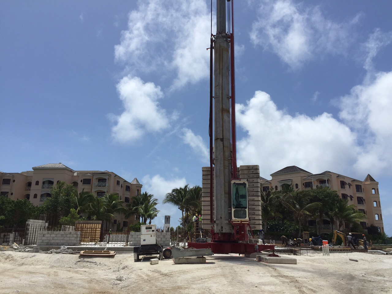 Standing on the site of The Crane Private Residences, looking back between Building 4 and 5 of The Crane.