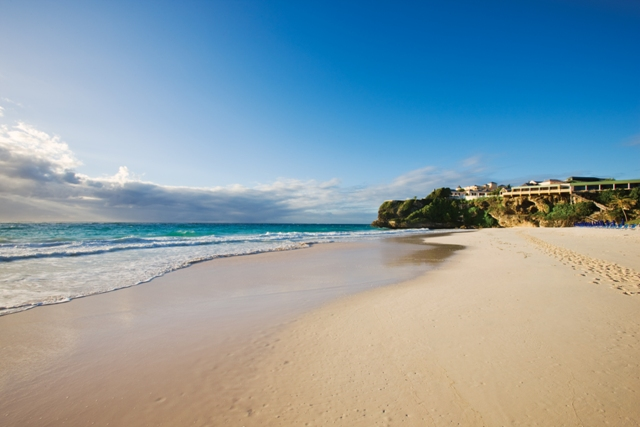 Barbados' world-famous Crane Beach only footsteps away from The Crane Private Residences.