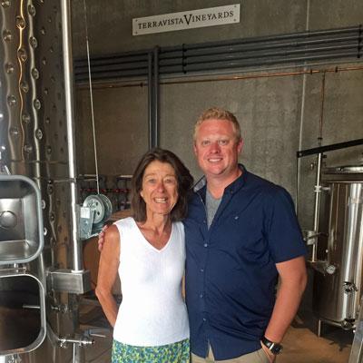 Senka and Chris at the Winery