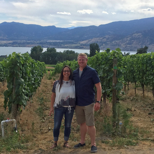 Marina & Chris checking out the vineyards