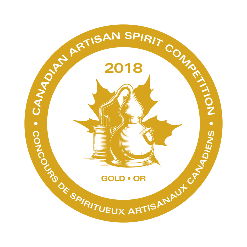 GOLD - Canadian Artisan Spirit Competition, 2018