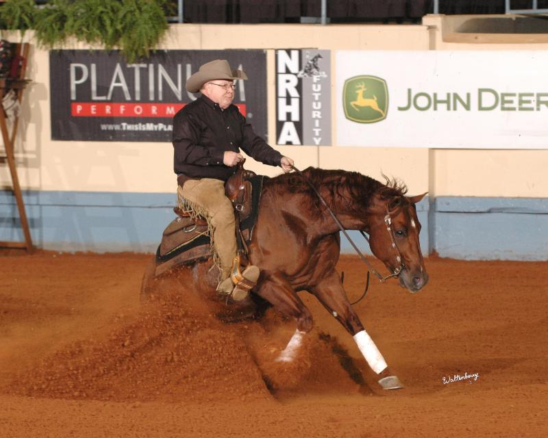 Tim and NRHA Futurity Reserve Champion Gunners Tinseltown