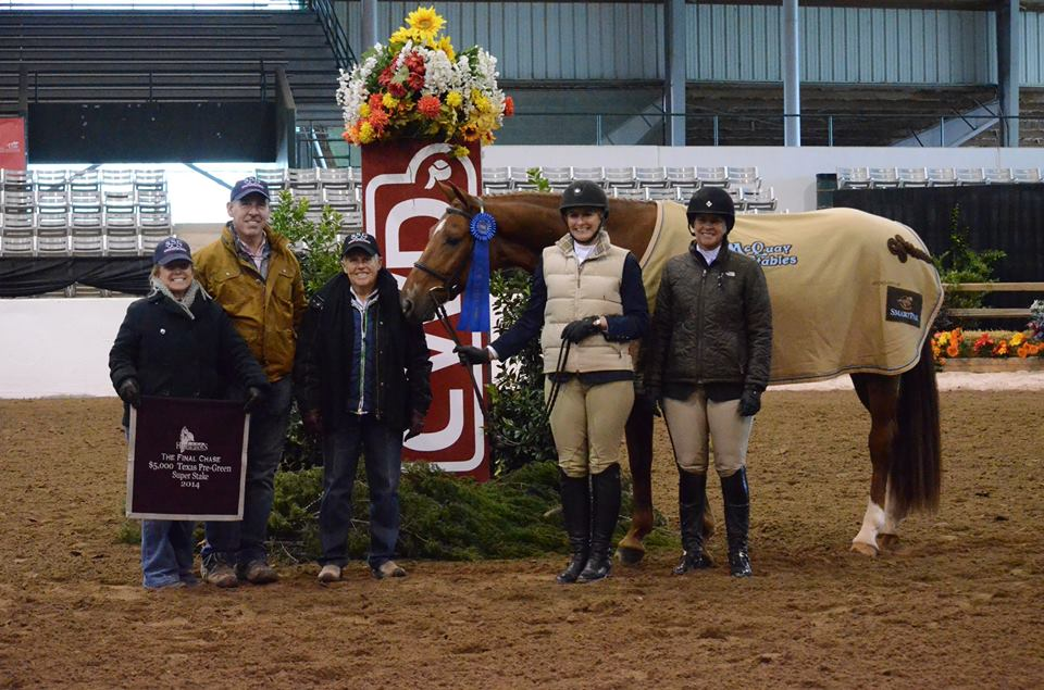 Colleen with SSG partners Patrick Rodes and Pauline Cook, client Bernadette Mulliken and rider Jen Alfano.