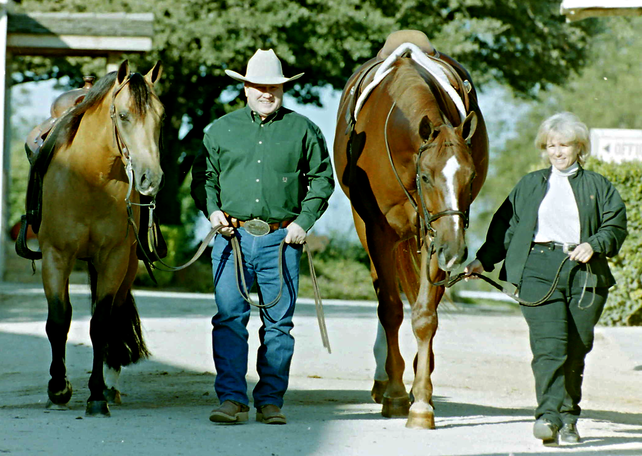 Tim and Colleen at McQuay Stables in Tioga, Texas