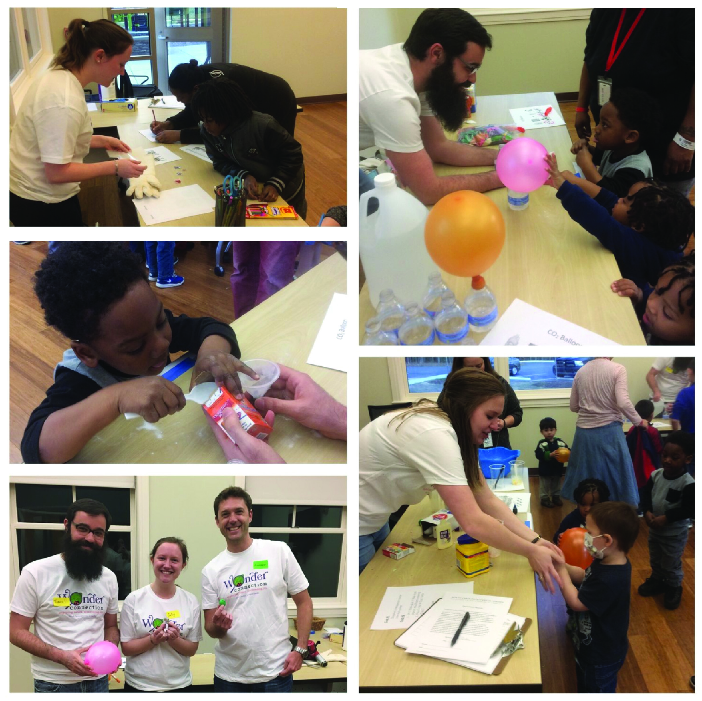 The Leibfarth group leading outreach activities at the UNC Ronald McDonald House