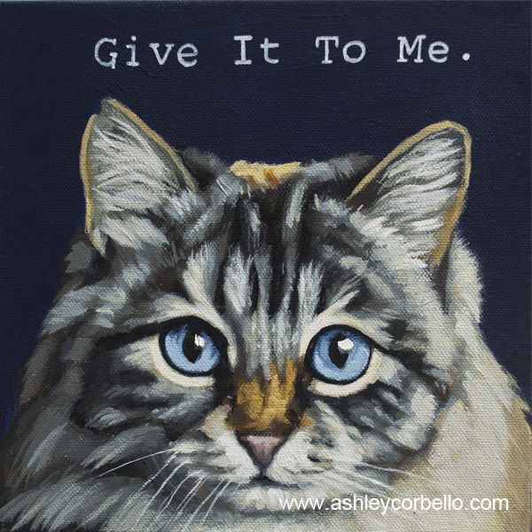 Corbello-grey and white long hair cat painting.jpg