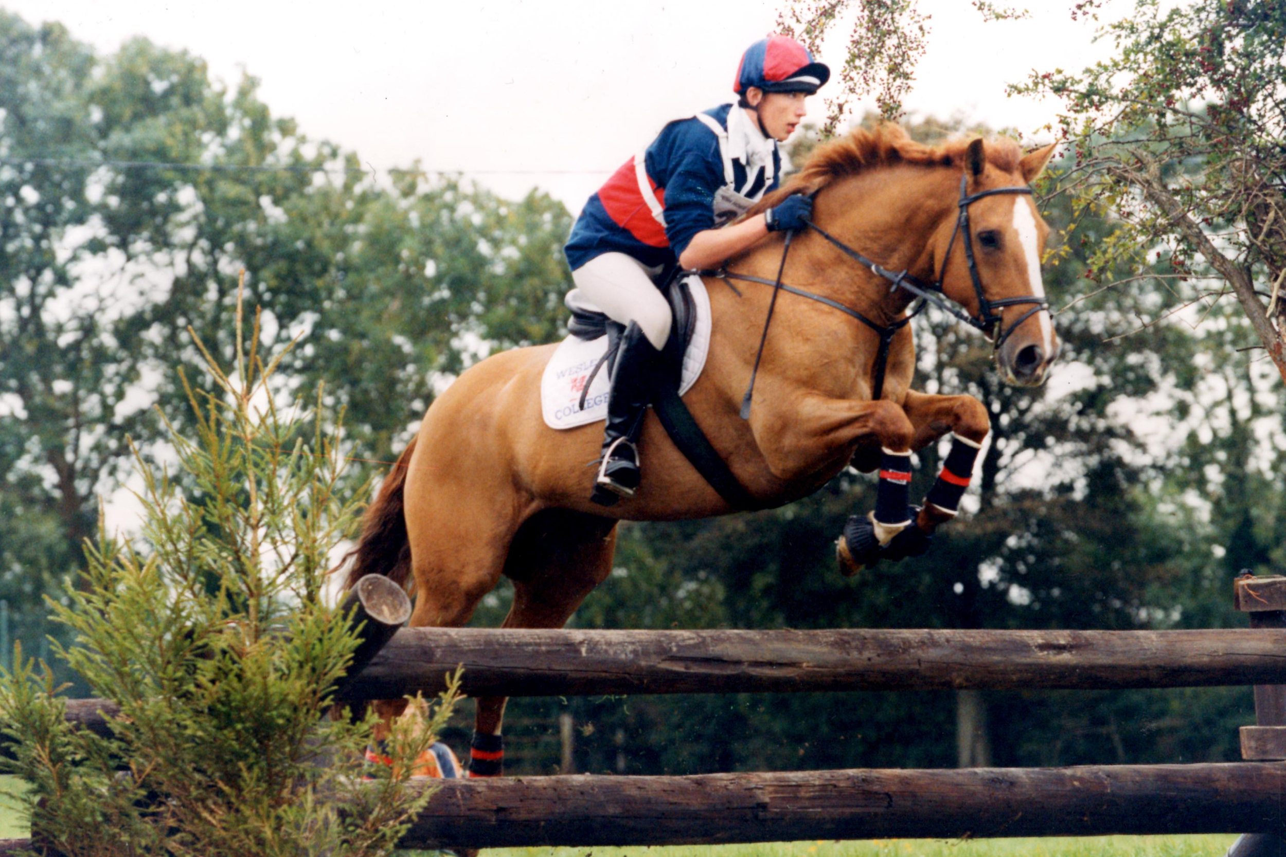 Sam and 'George' at the inter-schools horse trials championships