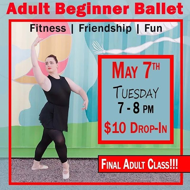 Last chance to jump in our Adult Ballet class! Don't miss out on the fun! 👯♂️👯♀️ • 📌No experience needed 📌Wear something comfortable and easy to move in  #okcdc #okc #okcdance #midtownokc #downtownokc #oklahomacity