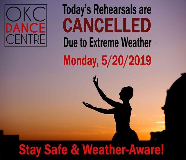 No rehearsal today! Stay safe! 🌪🌪🌪🌪 #okcdc #okc #downtownokc #midtownokc #oklahomacity #midtownokc