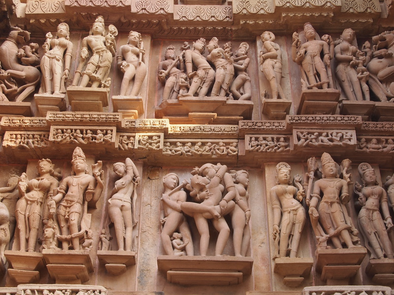 Khajuraho Tantra temple in India where spirituality and sexuality are blended together.