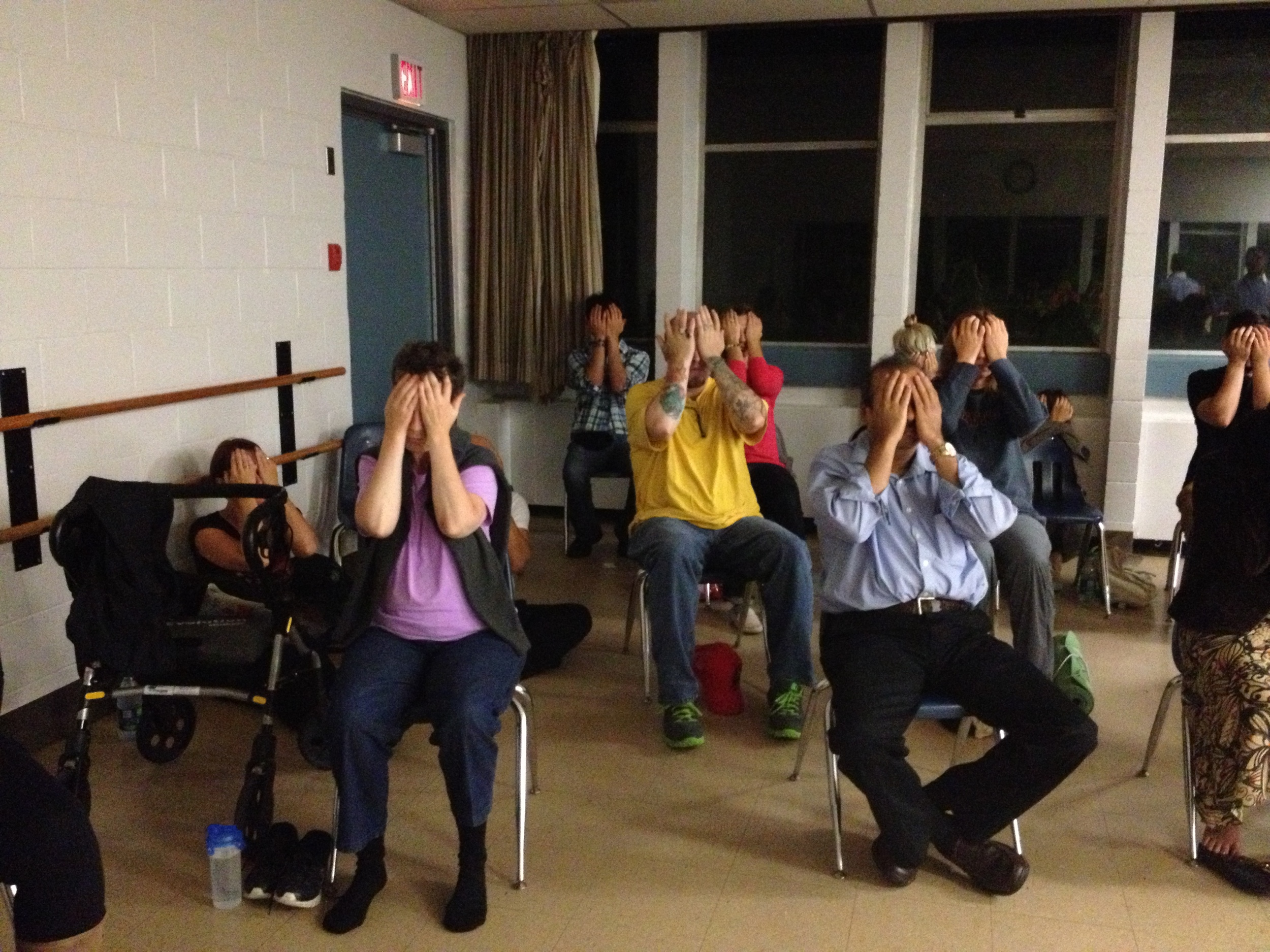 Chandresh's meditation session at Renfrew Community Center, Vancouver BC