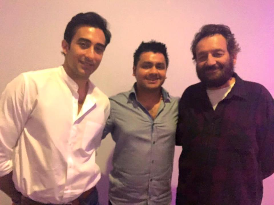 Chandresh with Rahul Khanna and Shekhar Kapur