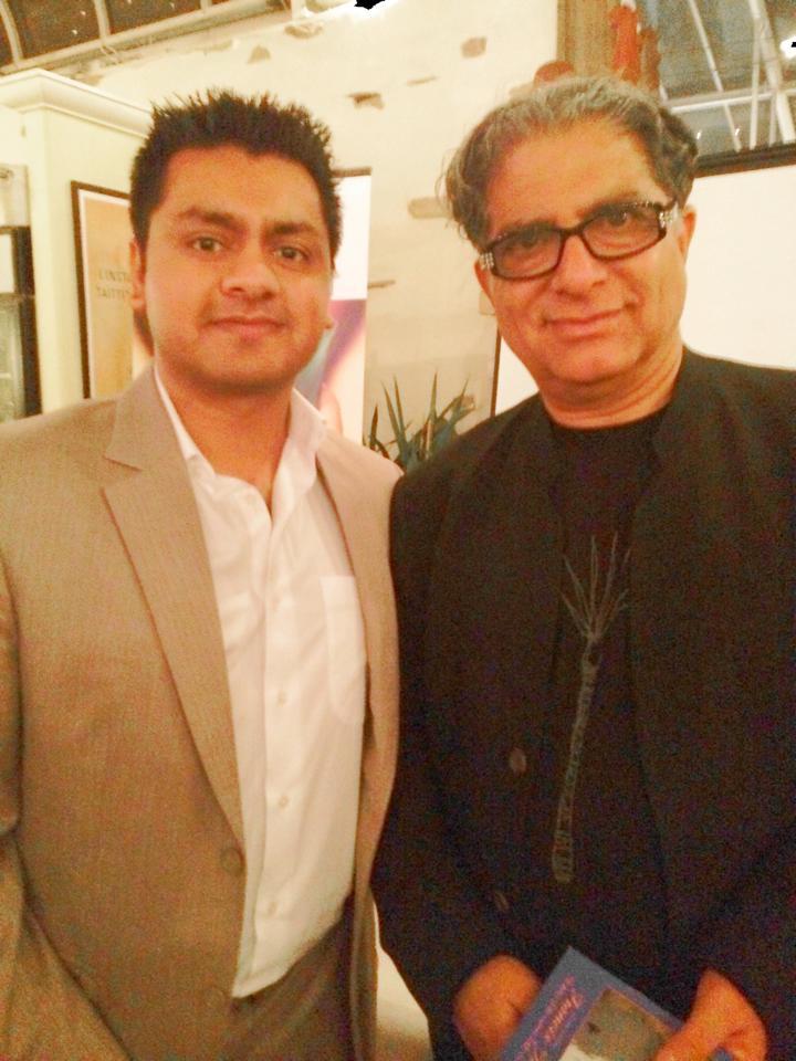 Chandresh with Deepak Chopra