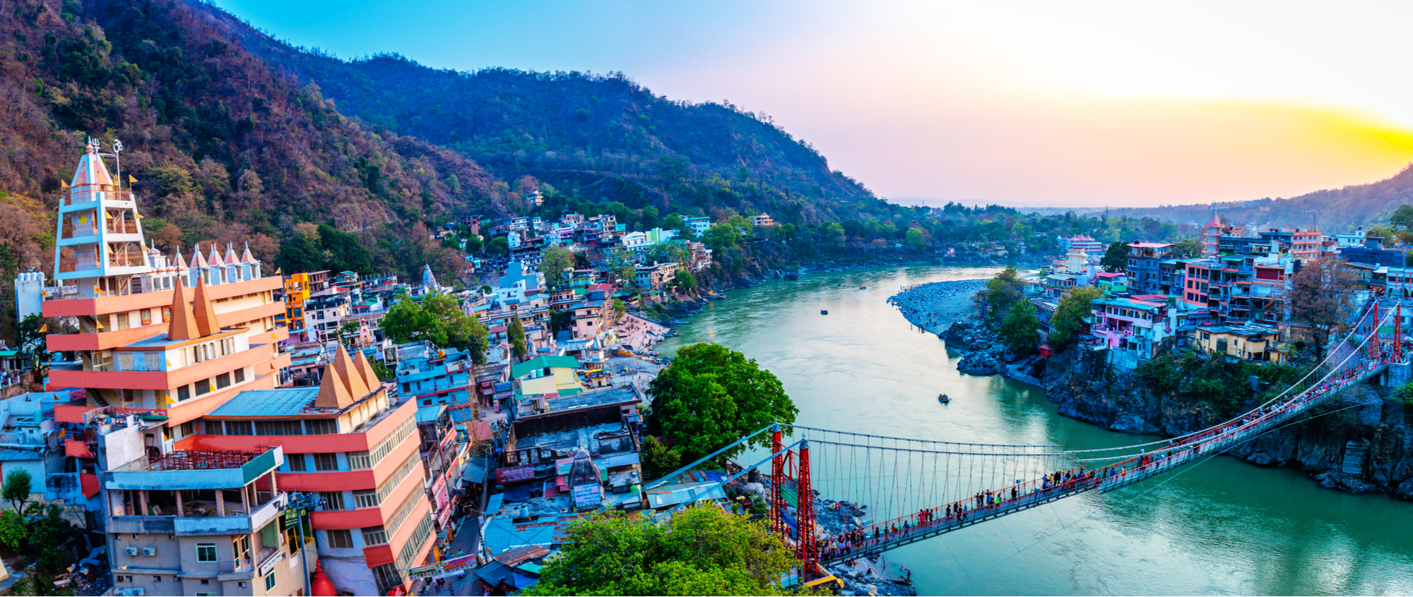 View of Rishikesh, Yoga Capital of the World