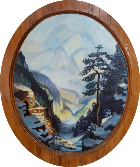Mountain Landscape by Christy Ann Watenpaugh