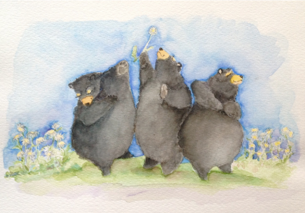 Summer Dance in watercolor by Susan Smith