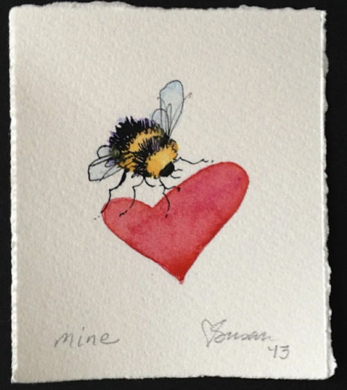 Mine  in watercolor by Susan Smith
