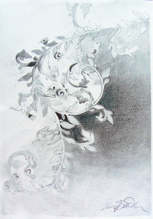 Memorial in graphite by Susan Smith