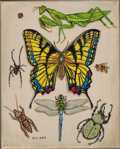 Bugs, paint, by Nancy Lee