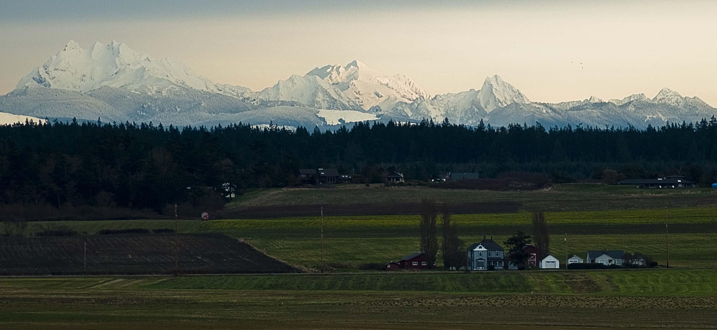 Ebey's Landing & the Cascade Mountains