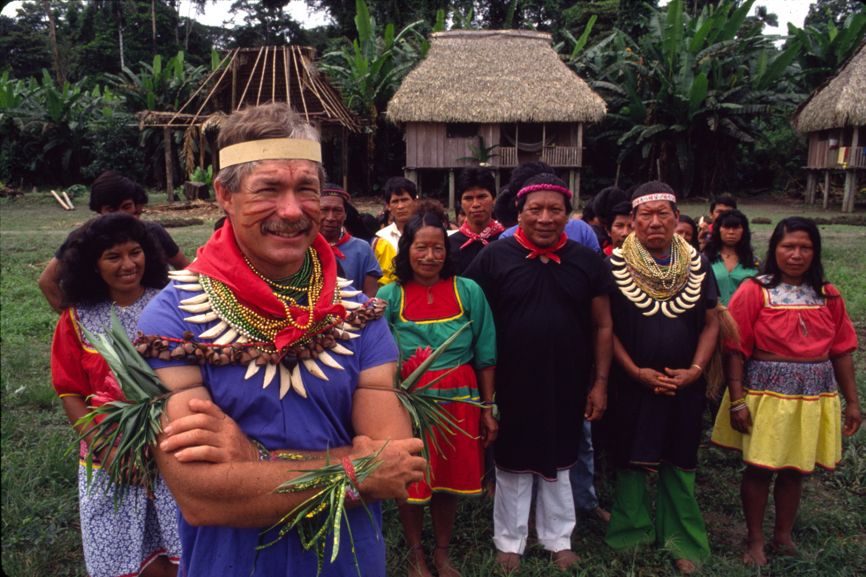 Randy with members of the Cofan community of Zábalo