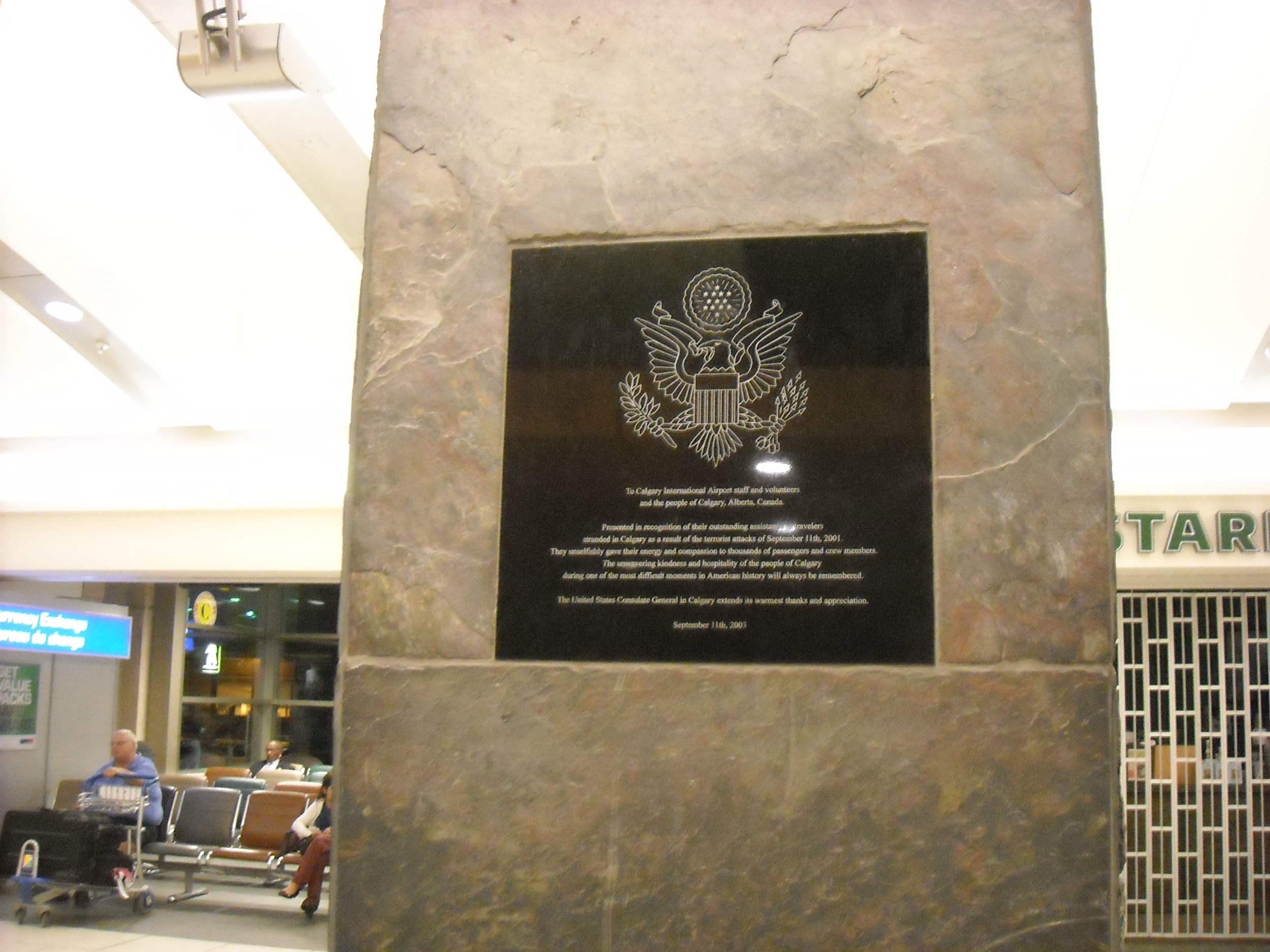 2003 Calgary Airport Memorial Plaque - Calgary, AB