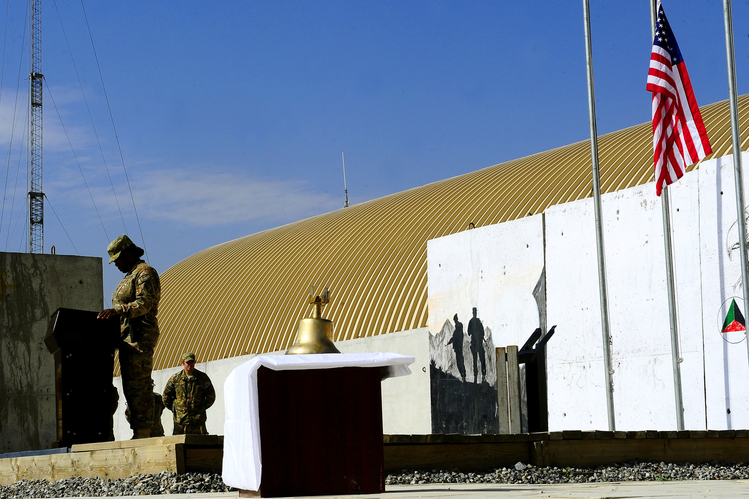 Kabul airport memorial–before unveiling.JPG
