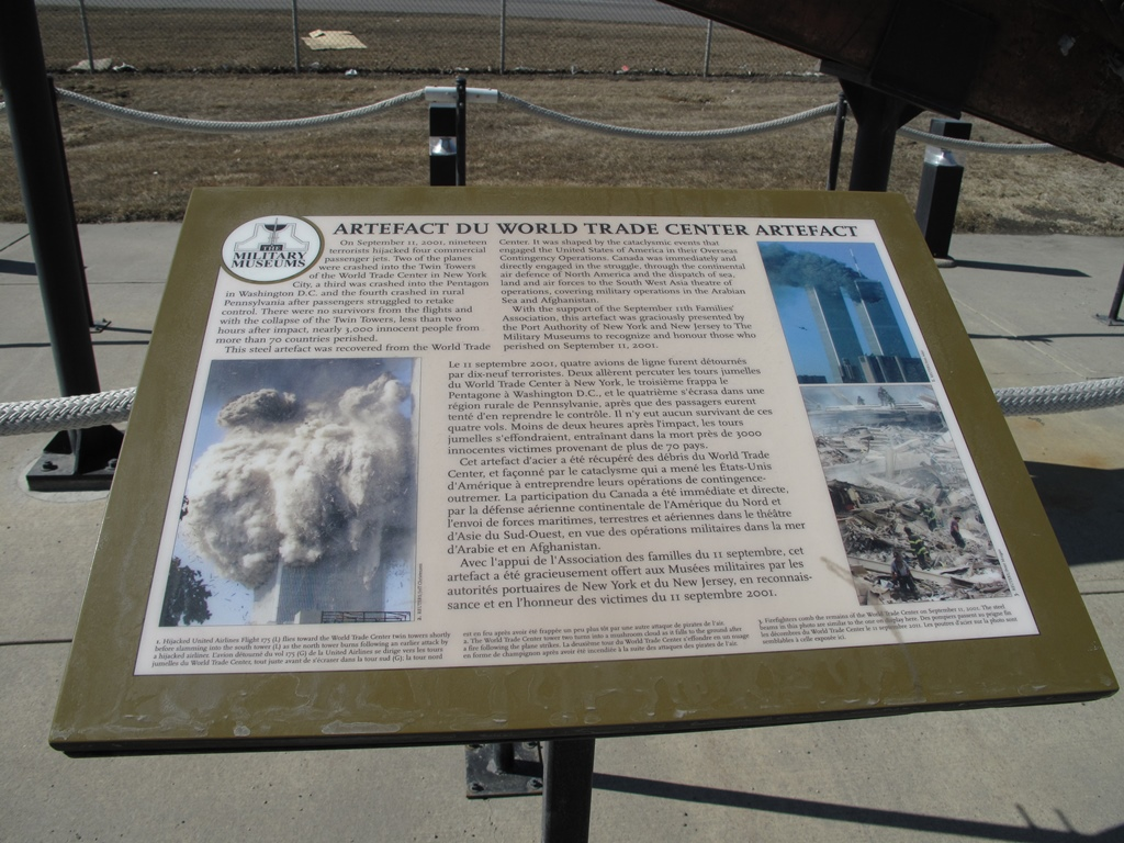 World Trade Center Artefact - Calgary, Alberta, Canada