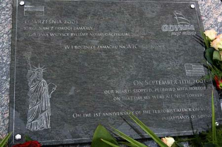 Gdynia 9/11 Memorial - Gdynia, Pomeranian, Poland