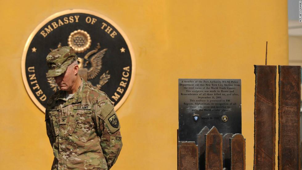 2011 U.S. Embassy in Afghanistan 9/11 Memorial Sculpture - Kabul, Afghanistan