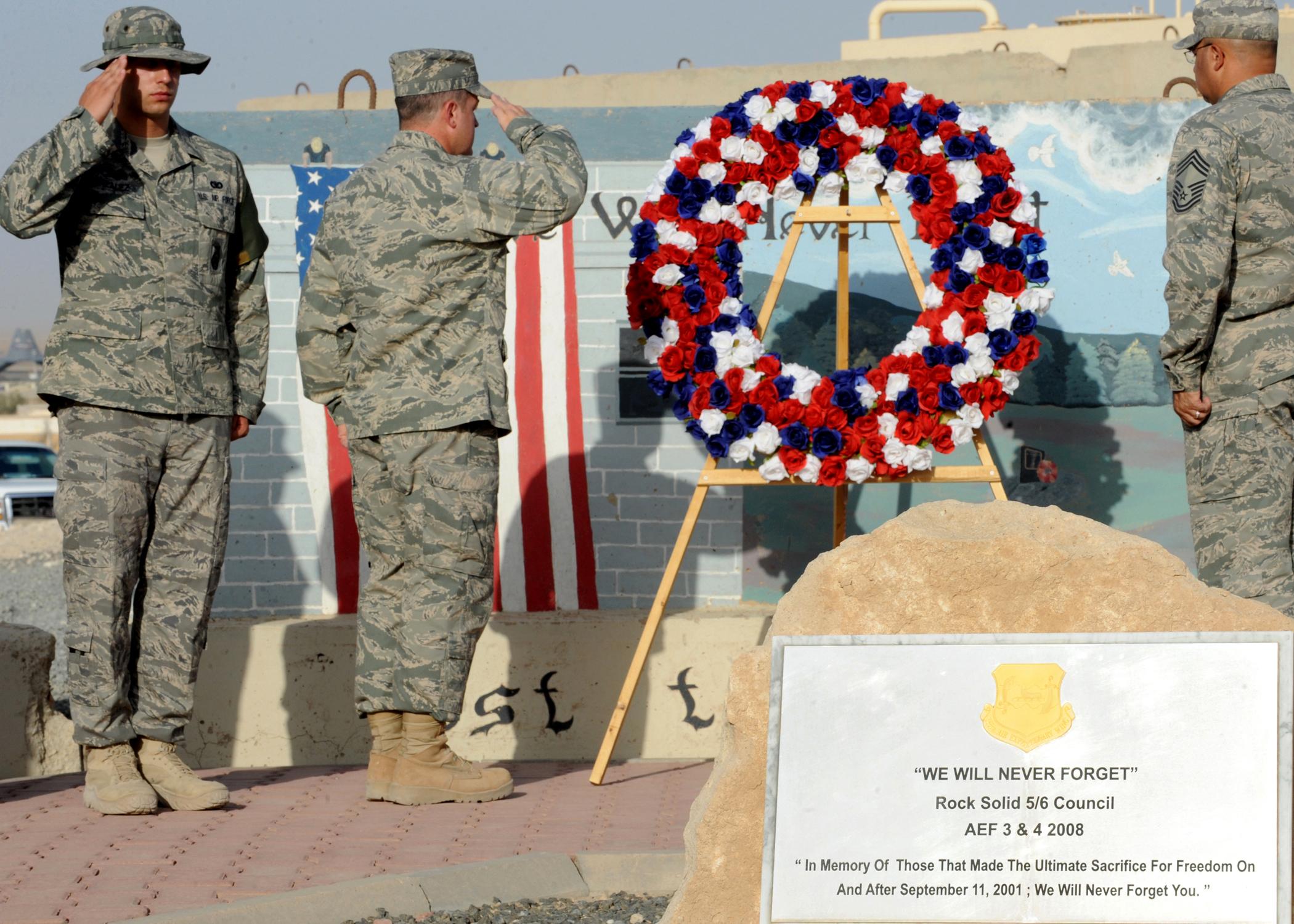 """We Will Never Forget"" - Ali Al Salem Air Base, Kuwait"