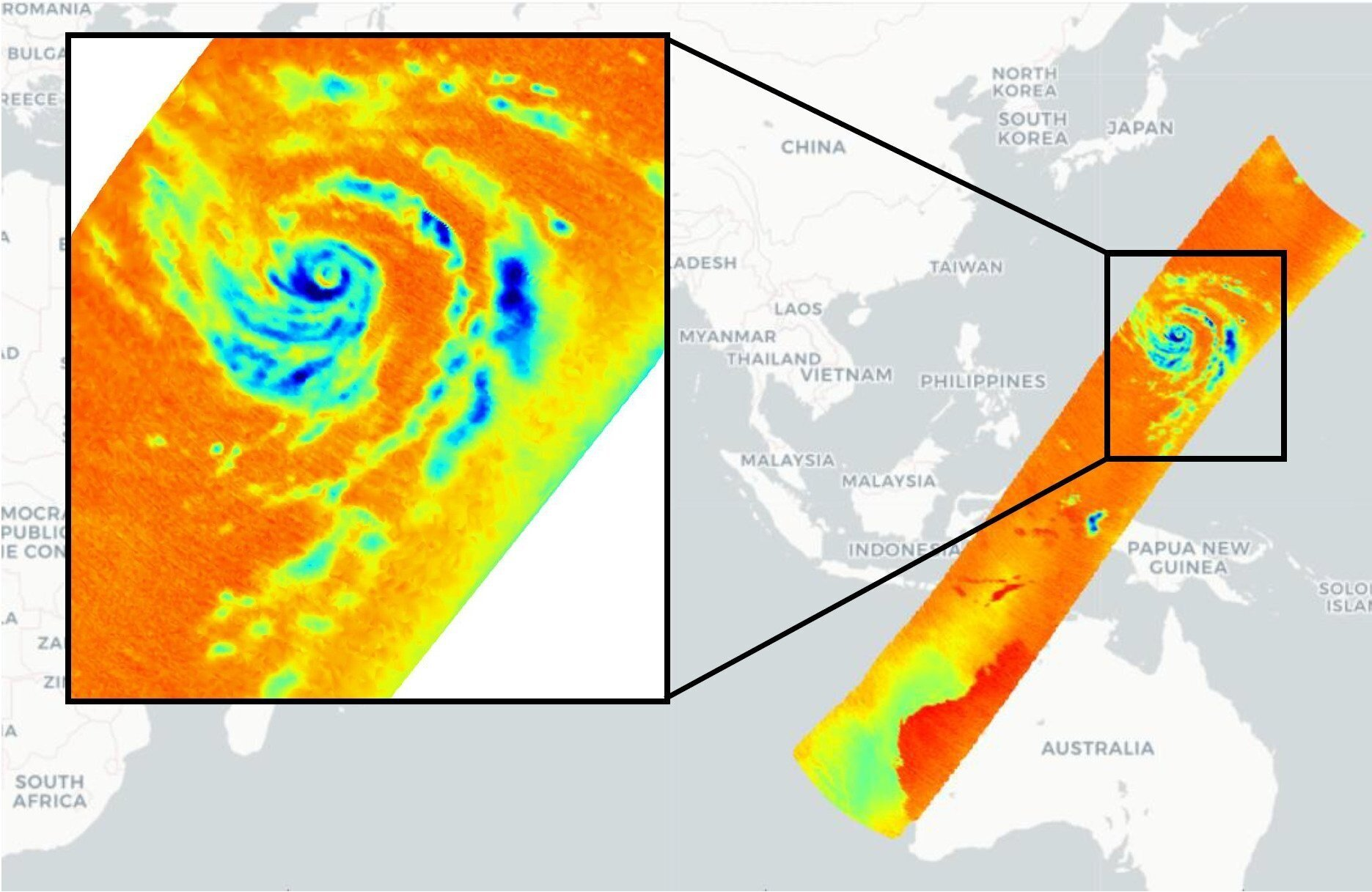 OMS captures High Resolution Imagery of Typhoon Hagibis