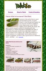 August 2016: Zucchini, it's what's in Season!
