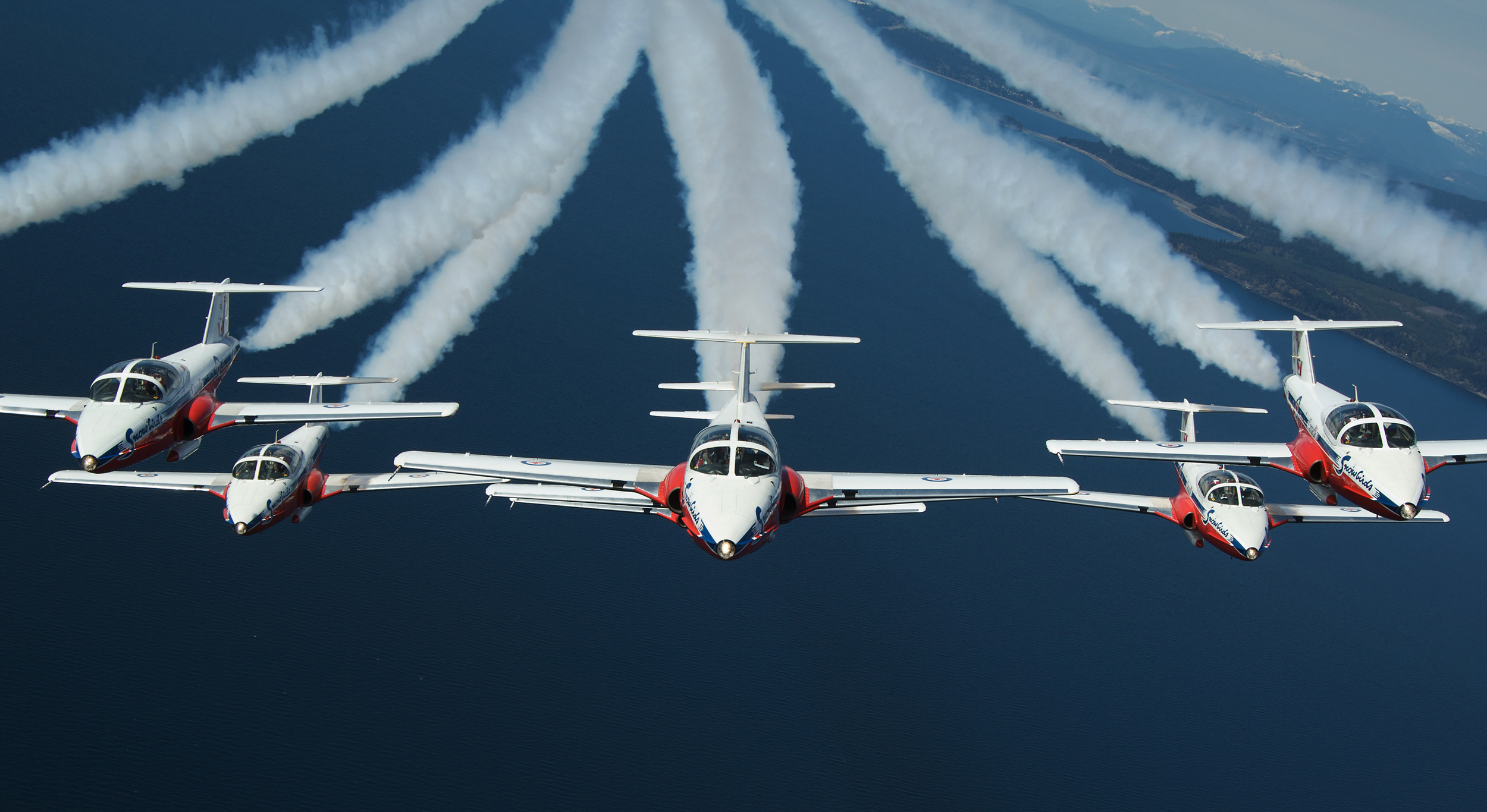 Canadian Snowbirds Formation Flying