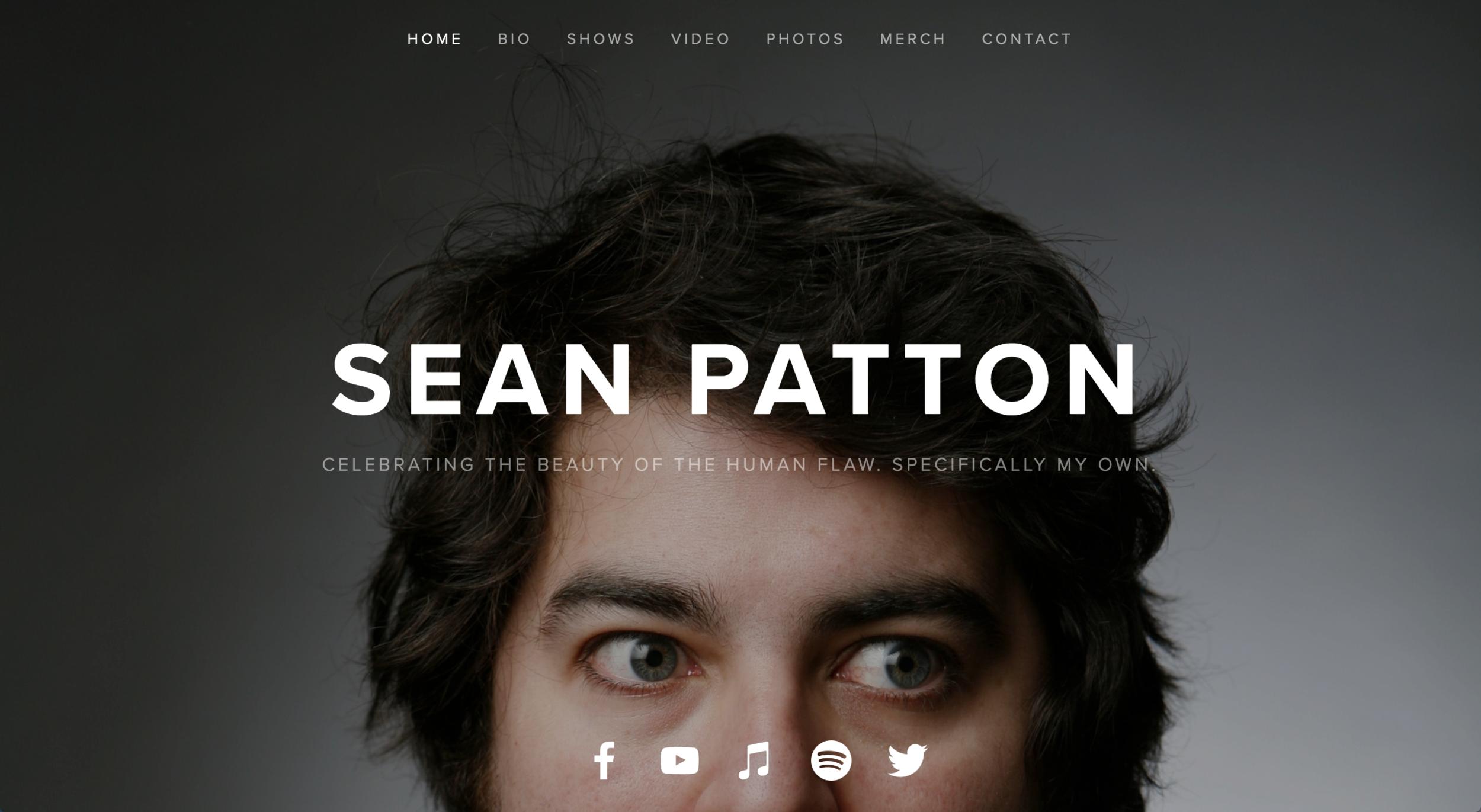 WEB DESIGN -    MESEANPATTON.COM