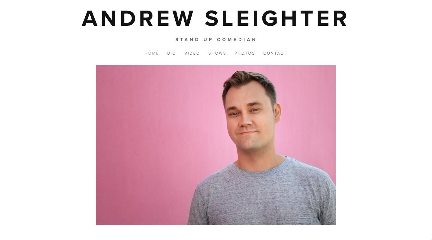 WEB DESIGN -    ANDREWSLEIGHTER.COM