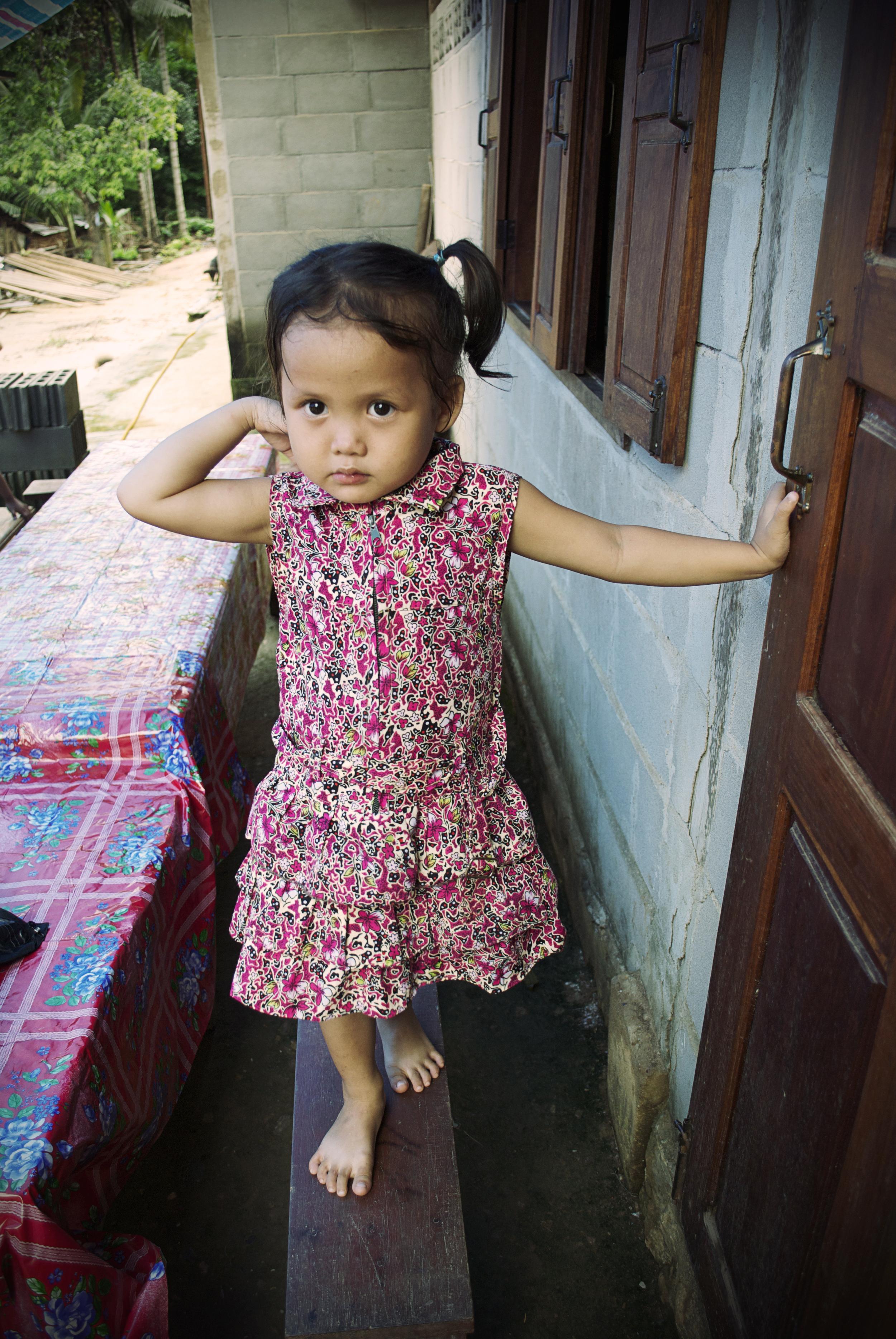 PORTRAITS | Girl on Bench, Ban Lad Khammoune, Laos