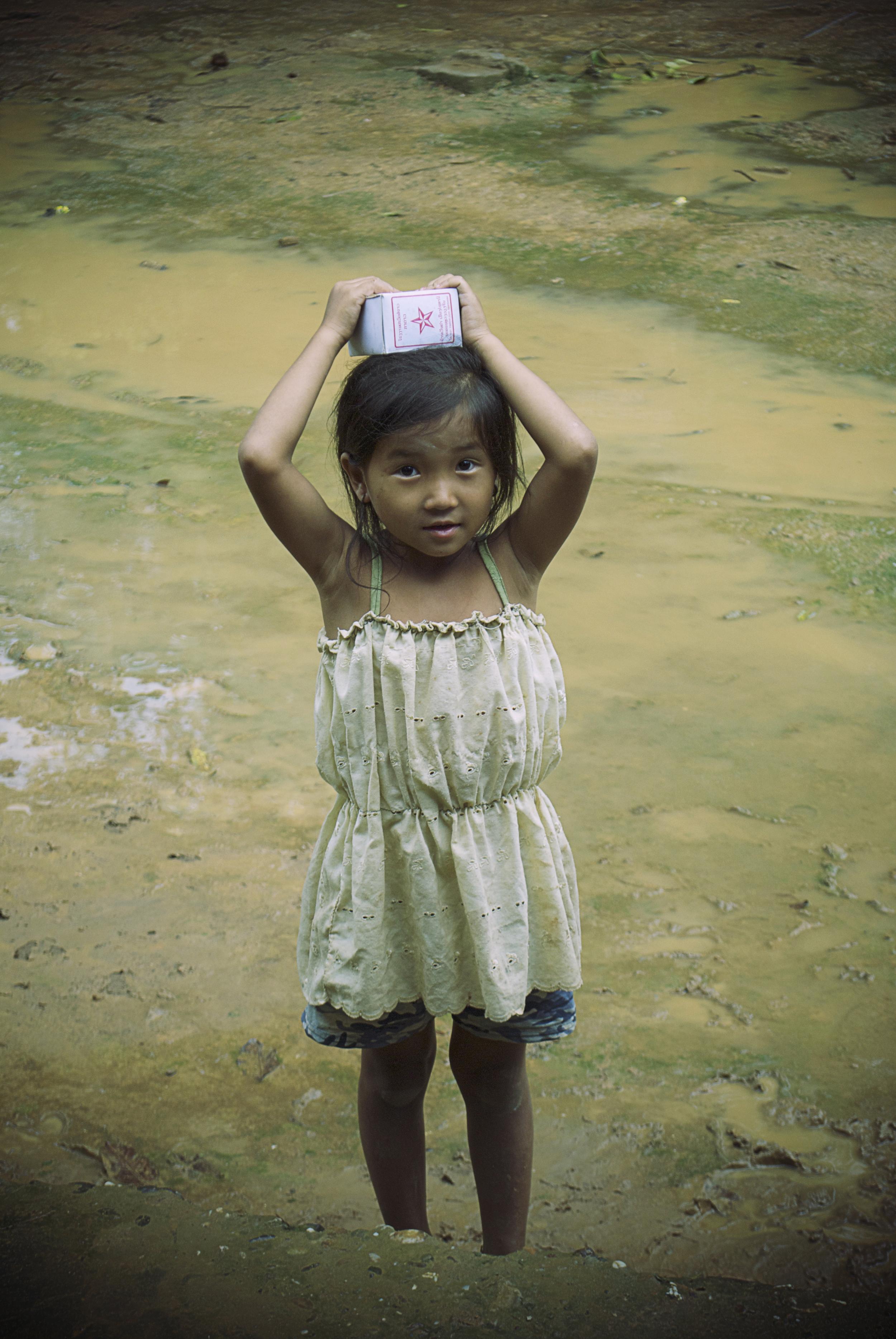 PORTRAITS | Girl in River, Ban Lad Khammoune, Laos